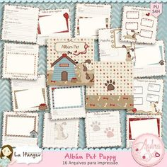 Miolo para Álbum Pet Puppy by Andrea Sato e Lu Ifanger