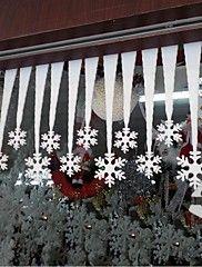 Flanell Esküvői dekoráció-2Piece / Set Díszítések Karácsony rusztikus téma Fehér Tavasz / Nyár / Ősz / Tél Nem személyesíthető N/A