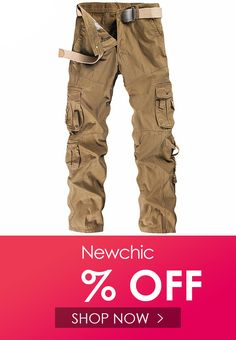 Keaac Mens Multi Pockets Military Camo Cargo Pant Casual Work Combat Trouser