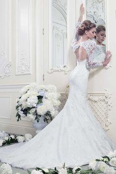 #lace #wedding #dress #white #white lace #elegant #elegance #beautiful