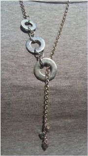 Image detail for - 3 Big Washer Long Necklace