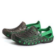 51212af2d Men Closed Toe Hole Breathable Waterproof Beach Sandals Soft Garden Shoes  Man Close