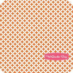 Down Under Orange Lattice Mint Blossom for Northcott Fabrics