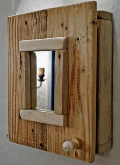 Driftwood Cabinet with a mirror Bathroom Cabinet by MarzaShop
