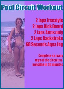 Pool Circuit Workout - No impact for my knees!