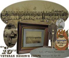 rare variant !! original Civil War photograph - 10th Veteran Reserve Corps     (Image1)