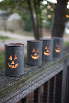 Kalalou Tin Luminary - Jack-O-Lantern - This Kalalou Christmas Tree Tin Luminary is such a pretty holiday decoration. Add a little bit of sophisticated illumination to your Christmas decoration collection. Luminaries are a great way to add some soft light both indoor or outdoor. #indoorhalloweendecorations