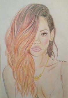 My Rihanna drawing
