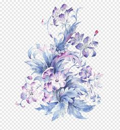 Watercolor painting Drawing, Small fresh hand-painted watercolor flower, purple and pink flowers painting free png Rose Illustration, Floral Illustrations, Watercolor Leaves, Watercolor Rose, Painting & Drawing, Watercolor Paintings, Flower Bouquet Drawing, Flower Png Images, Drawings
