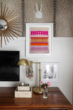 the HUNTED INTERIOR: Bedroom Revamp: Vintage Dresser & Gallery Wall - art from Minted.