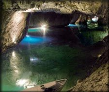 A boat ride on Europe's largest Subterranean Lake? On the list! The Underground Lake of St.I live about an hour from here:) Vacation Trips, Dream Vacations, Visit Switzerland, Excursion, Europe, Going On A Trip, Where To Go, Navigable, Wonders Of The World