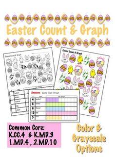 Easter Count & Graph  - Common Core Measurement & Data $.90