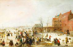 Hendrick Avercamp, «A Scene on the Ice near a Town»