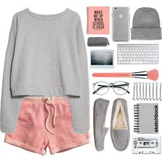 Lazy day (tag) by berina-2000 on Polyvore featuring polyvore, мода, style, MANGO, H&M, UGG Australia, Topshop, Case-Mate, BOBBY and Bdellium Tools