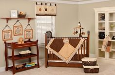 Orange and Brown Baby Bedding for Neutrals