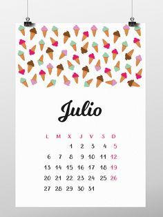 Calendario Julio 2015 descargable gratis