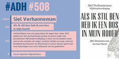 #ADH #508 #poëzie  Als ik stil ben heb ik een bos in mijn hoofd | Siel Verhanneman  http://zoeken.kortrijk.bibliotheek.be/detail/Siel-Verhanneman/Als-ik-stil-ben-heb-ik-een-bos-in-mijn-hoofd/Boek/?itemid=|library/marc/vlacc|9770953