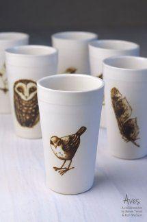 Owl Feather, Australian Birds, Porcelain, Ceramics, Tableware, Foot Prints, Nests, Collection, Collaboration