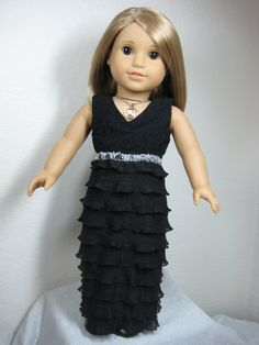18 inch Doll Clothes American Girl Black Organza by nayasdesigns