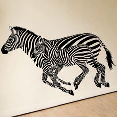 Zebra Wall Stickers | Zebra Stickers For Walls / Wall Decals From  Amazingsticker Part 36