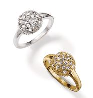 abrianna rings..matches the necklace/earring gift set! choose from goldtone or silvertone! each ring is only sale for $9.99!