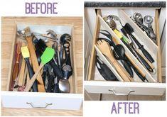 New Diy Kitchen Organization Drawer Dividers 33 Ideas Kitchen Drawer Dividers, Diy Kitchen Shelves, Shelf Dividers, Kitchen Drawer Organization, Kitchen Drawers, Kitchen Organization, Kitchen Storage, Draw Dividers, Kitchen Hacks