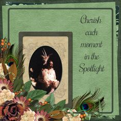"""""""Cherish each moment in the Spotlight"""" digital layout made by CT artist poki featuring ADB Designs ALL THAT JAZZ, a perfect heritage digital scrapbooking kit to document your family story of the Roaring 20's (or use it with newer pix too!)  http://www.godigitalscrapbooking.com/shop/index.php?main_page=advanced_search_result&search_in_description=1&keyword=all+that+jazz"""