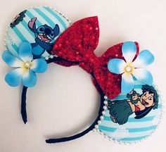 Excited to share this item from my Etsy shop: LoversofDisneyEars, Lilo and Stitch Mouse Ears, Disney Ears Headband, Diy Disney Ears, Disney Mickey Ears, Diy Headband, Ear Headbands, Minnie Mouse, Disney Day, Disney Pins, Disney Movies