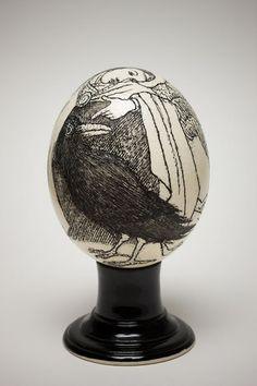 Etching on egg