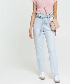 Calça Jeans Infantil Jogger com Elástico Azul Médio cea