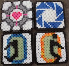 Set of Four Portal Perler Bead Coaters by CreativeCompendium, $12.00
