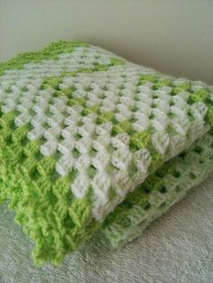 Crochet Baby Blanket Afghanstroller / travel  size in by ArtofBaby, $45.00