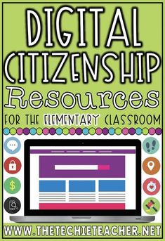 Are you looking for some resources to use to help teach digital citizenship throughout year? These are some of my favorites for the elementary classroom! Students can learn all about online safety, cyberbulling. creative credit & copyright, protecting the