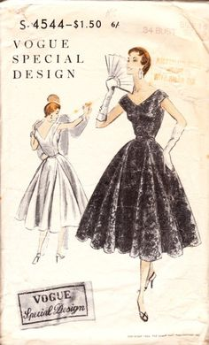1954 dress pattern
