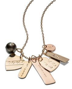 Love these personalized bracelets and necklaces! @Merci New York | Jacqueline Weppner