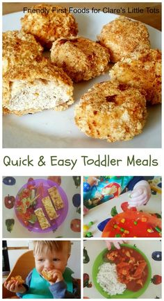 quick and easy toddler meals. Fun healthy meal and snack ideas for baby led weaning or toddlers.