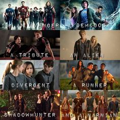 #fandoms The Avengers, Percy Jackson, The Hunger Games, The Host, Divergent, Maze Runner, City of Bones, and The Chronicles of Narnia