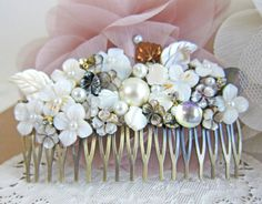 The Great Gatsby Hair Comb Wedding Bridal Black by Jewelsalem,   like this as well!