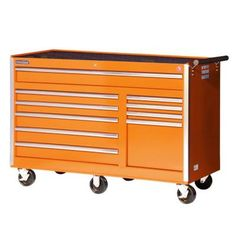 International Tech Series 56 in. 10-Drawer Tool Cabinet, Orange-VRB-5610OR at The Home Depot