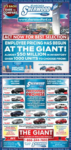 Sherwood Fords deals #yeg #shpk #ford #sales #trucks #cars #suvs