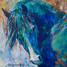 Print: Unspoken Understanding  Inspired by WP Aul Jessie James, a Stallion of the Warren Park Stud, Fresno California  Prints Available:  35 X 35″ Giclee on Canvas for $800  Available through The Lloyd Gallery PENTICTON, BC