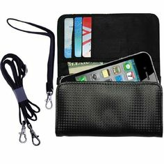 Amazon.com: Black Purse for the Apple iPhone 5 includes a hand loop and shoulder strap: Cell Phones & Accessories
