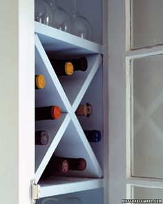 Compact Wine Rack - Top 10 Awesome DIY Kitchen Organization Ideas - Organize in