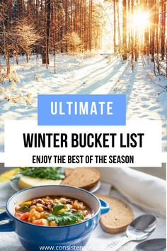Winter Bucket List Ideas for the whole family! Includes date nights, foodie ideas, family fun and more! #winterbucketlist #bucketlist #winter #thingstodoinwinter