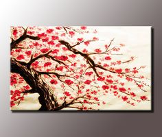 flowering tree on 3 paintings - Google Search