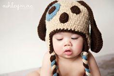 Crochet Puppy Dog Hat Pattern