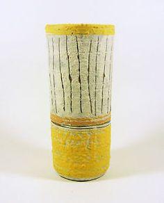Pottery World, Pottery Art, Stripes, Vase, Ceramics, Retro, Yellow, Hungary, Artwork