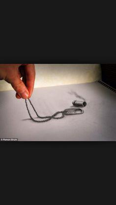 Amazing 3D tattoo sketch!