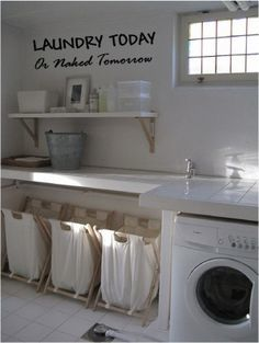 5 astuces pour une buanderie fonctionnelle.Plus de conseils pour aménager sa maison intelligemment sur le blog#sweethomesmartlife - #home #storage #laundry