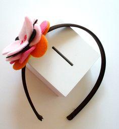 felt flower headband by @snookydoodles on #etsy